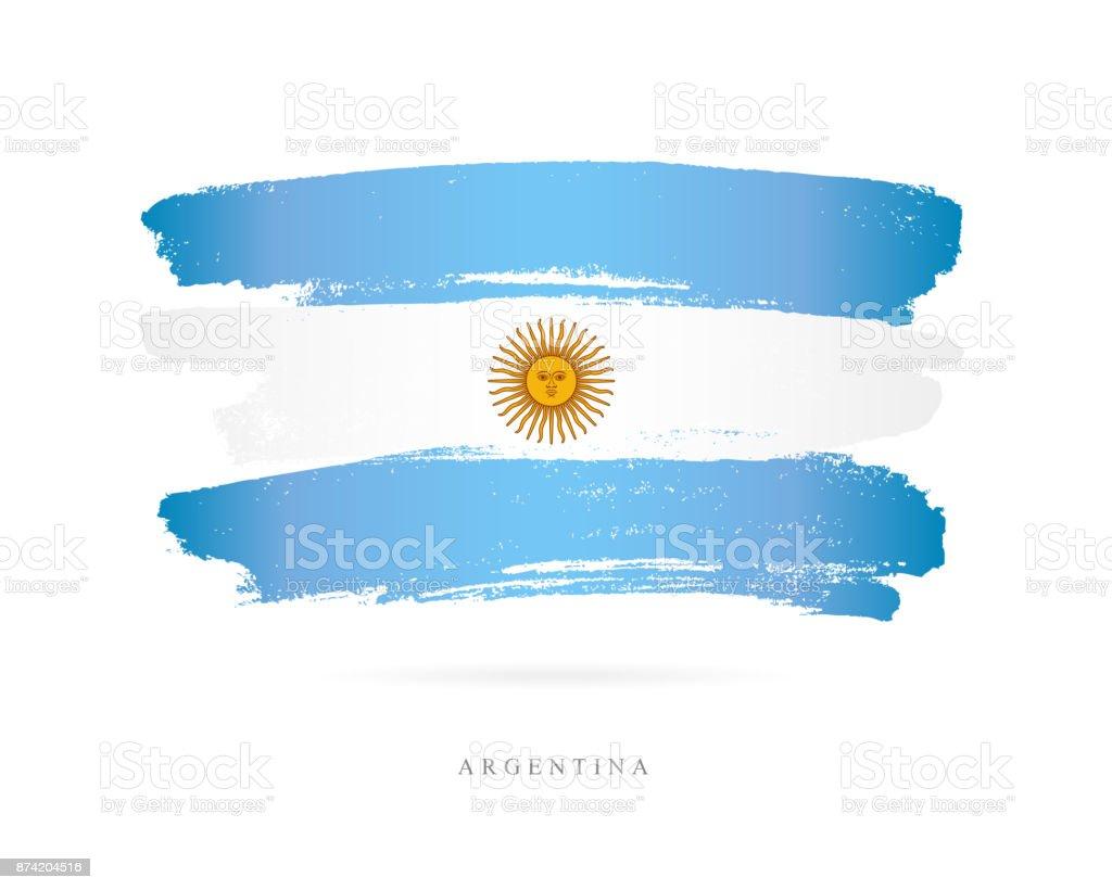Bandera de Argentina. Ilustración de vector - ilustración de arte vectorial