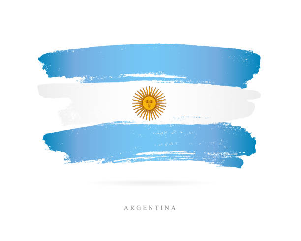 illustrations, cliparts, dessins animés et icônes de drapeau de l'argentine. illustration vectorielle - argentine