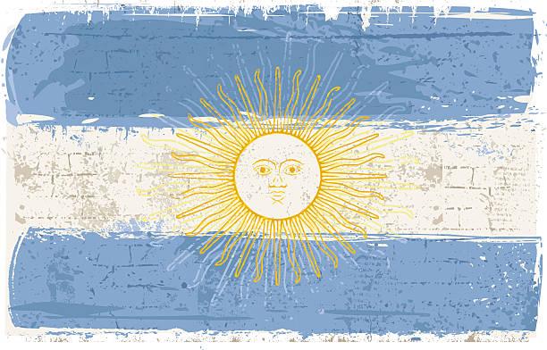 アルゼンチンの国旗の壁 ベクターアートイラスト