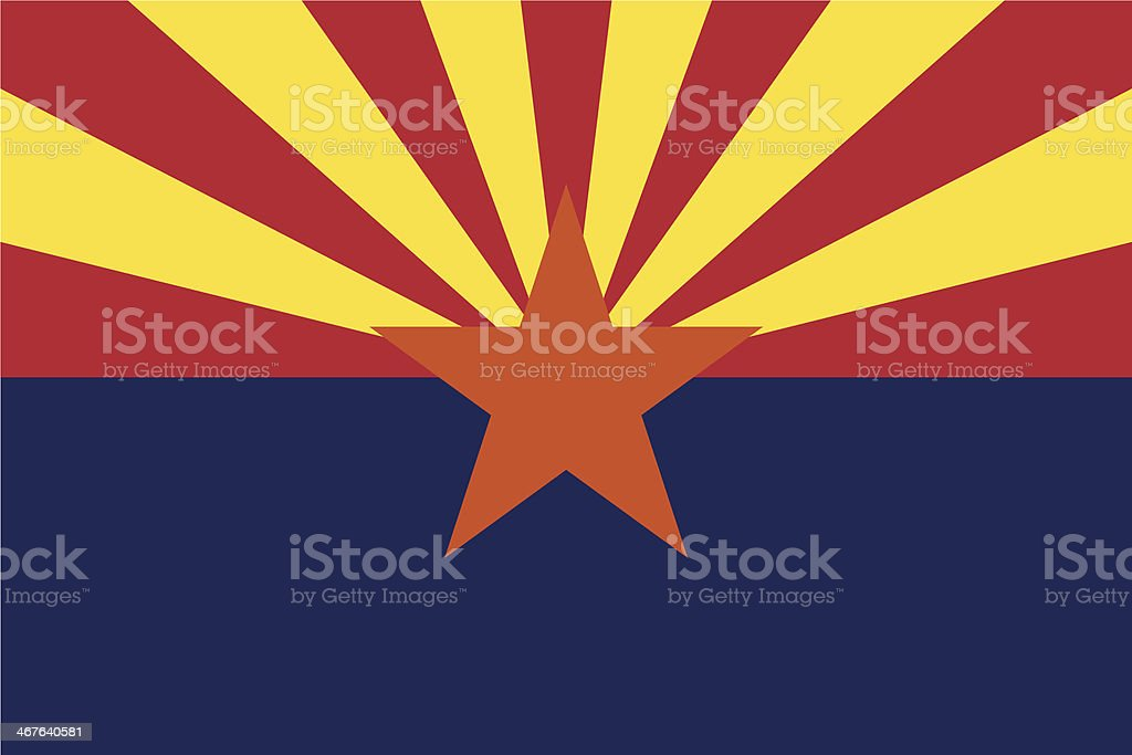 Flag of Arizona royalty-free flag of arizona stock vector art & more images of american flag