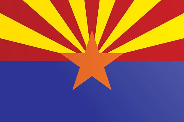 Flag of Arizona vector art illustration
