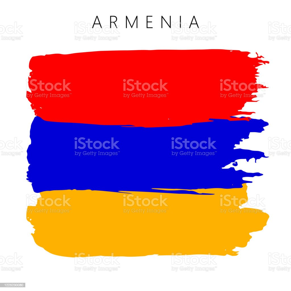 Flag Of Armenia Vector Illustration On White Background National Flag With Three Colors Yellow Blue And Red Beautiful Brush Strokes Abstract Concept Elements For Design Painted Texture Stock Illustration Download Image