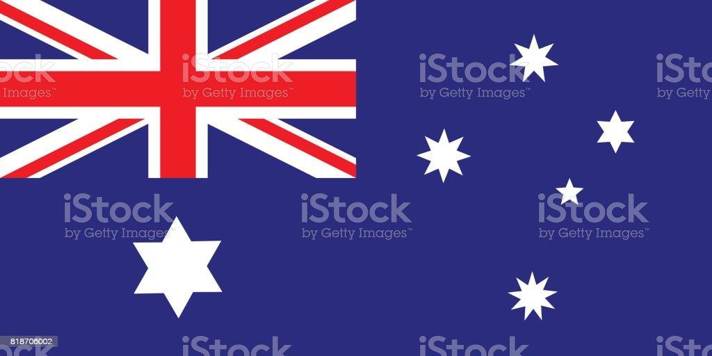 オーストラリア 1901-1903 年の国旗 ベクターアートイラスト