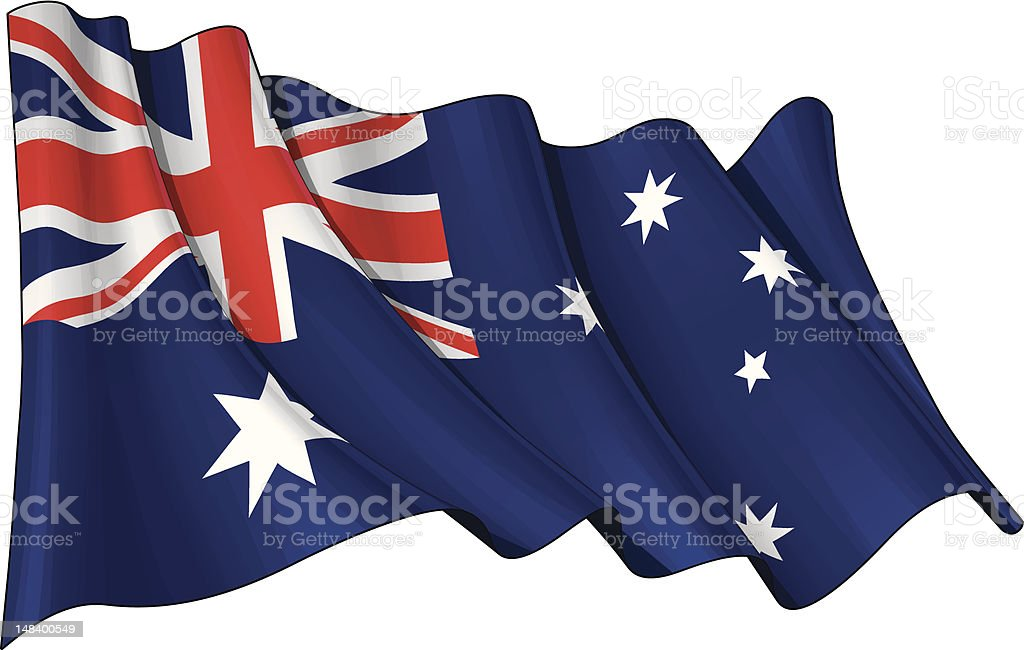 Flag of Australia royalty-free stock vector art
