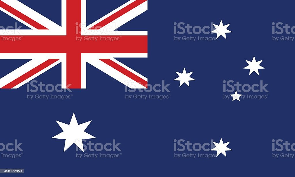 Flag of Australia vector art illustration
