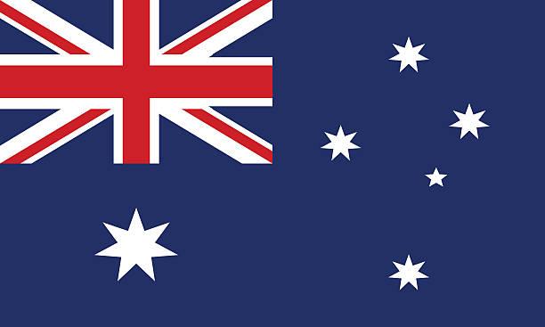 stockillustraties, clipart, cartoons en iconen met flag of australia - zuid