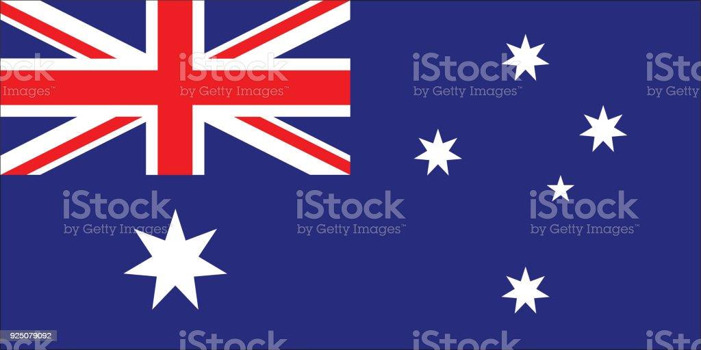 Bandeira da Austrália - ilustração de arte em vetor