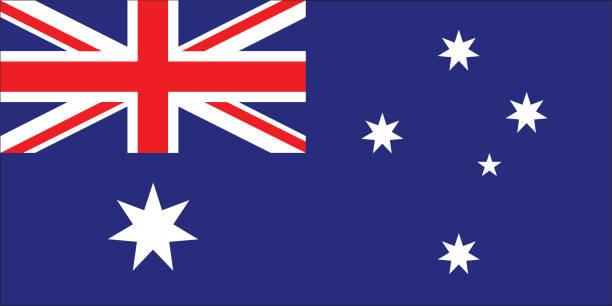 ilustrações, clipart, desenhos animados e ícones de bandeira da austrália - bandeira union jack