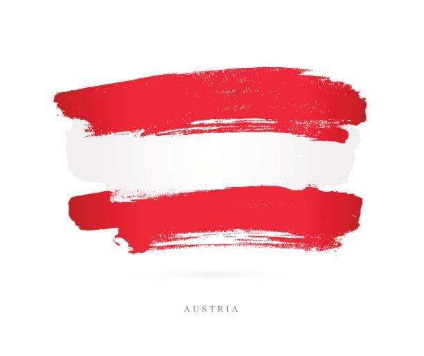 Flagge von Österreich. Vektor-illustration – Vektorgrafik