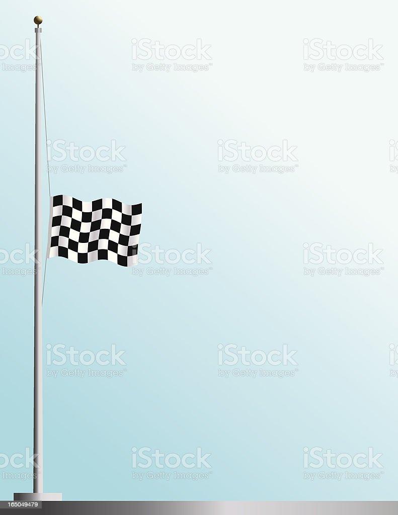 Flag of Auto Racing at Half Staff royalty-free stock vector art