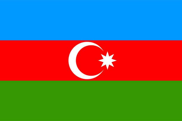 Flag of Azerbaijan Flag of Azerbaijan azerbaijan stock illustrations