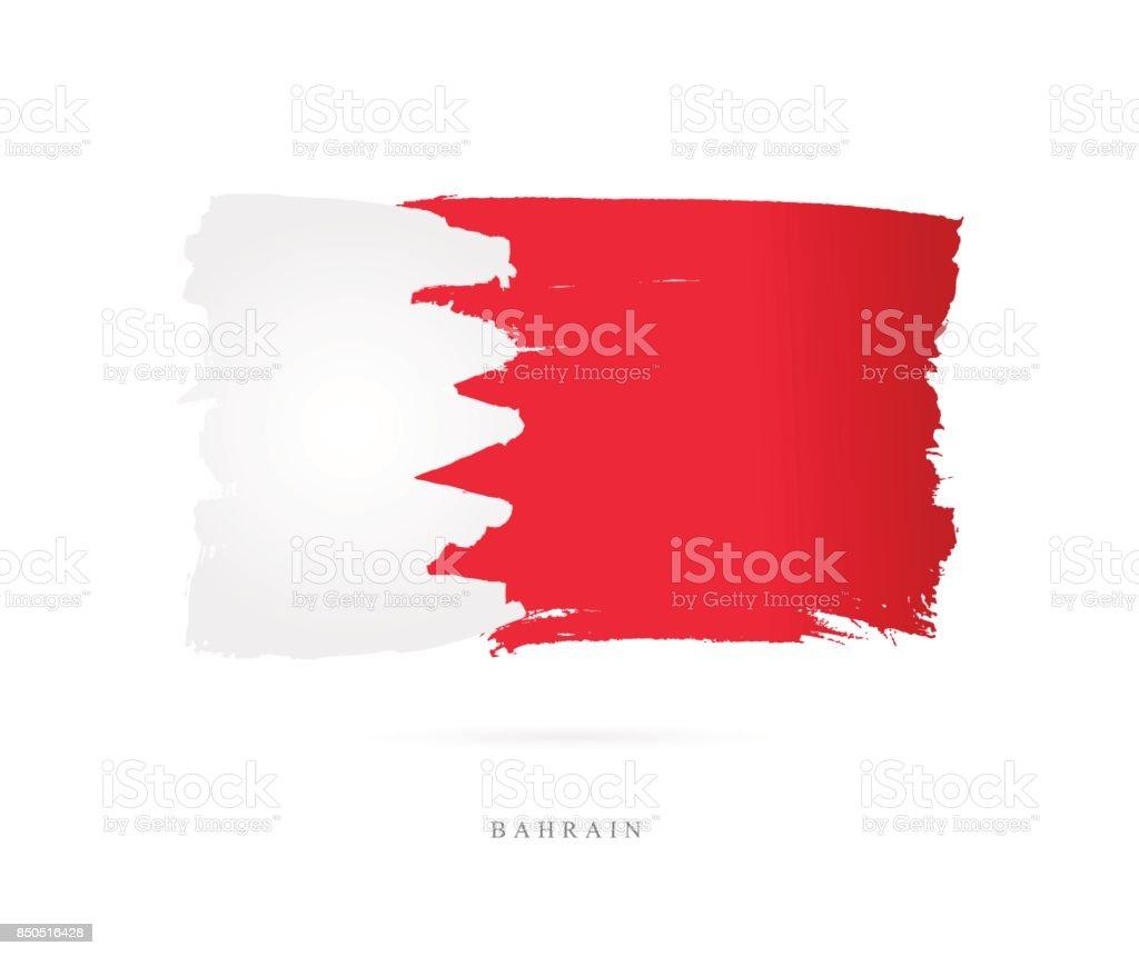 Flag of Bahrain. Vector illustration vector art illustration