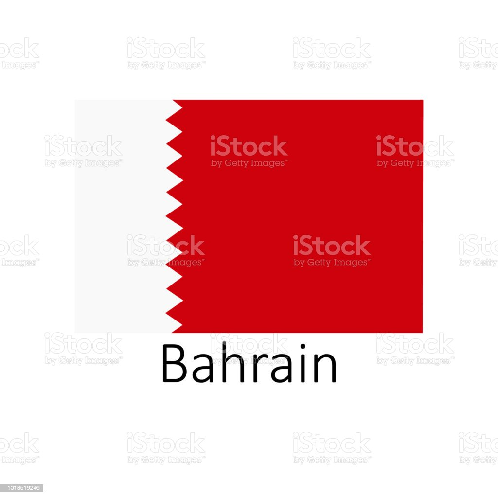 Flag Of Bahrain With Name Icon Official Colors And Proportion