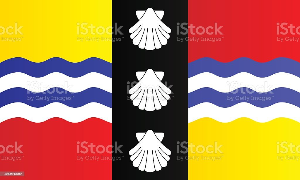 Flag of Bedfordshire vector art illustration