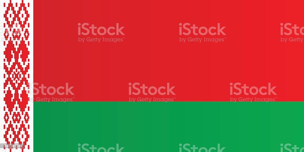 Flag of Belarus vector art illustration