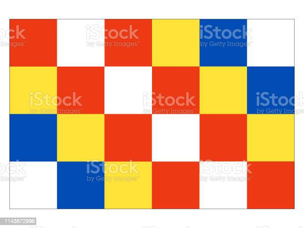 Vector Illustration of the Flag of Belgian Province of Antwerp