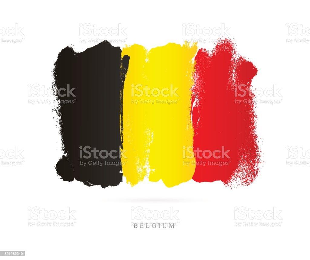 Flag of Belgium. Vector illustration vector art illustration