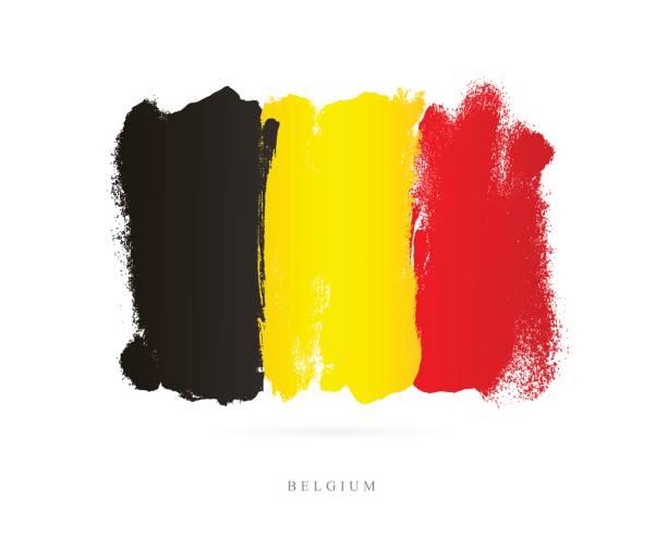 Flagge von Belgien. Vektor-illustration – Vektorgrafik