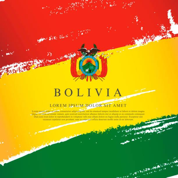 Flagge von Bolivien. Vektor-Illustration auf weißem Hintergrund. Pinselstriche – Vektorgrafik