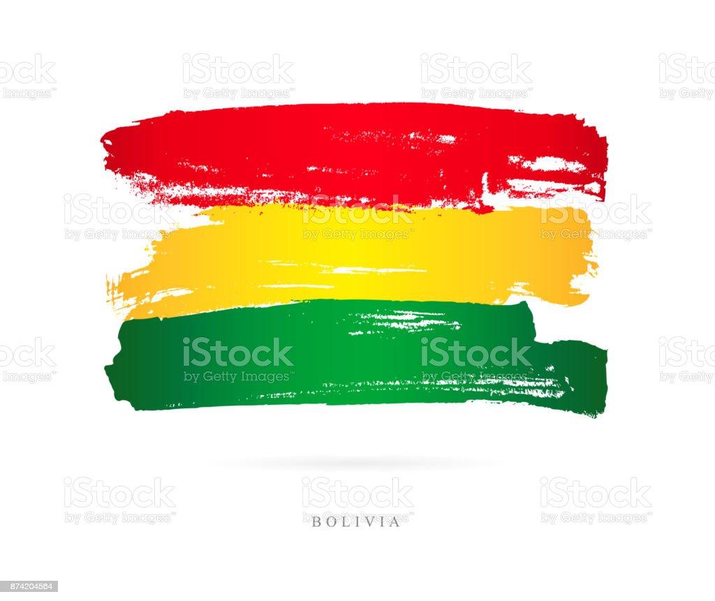 Bandera de Bolivia. Ilustración de vector - ilustración de arte vectorial