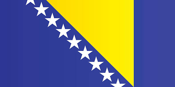 Flag of Bosnia And Herzegovina Flag of Bosnia And Herzegovina bosnia and hercegovina stock illustrations