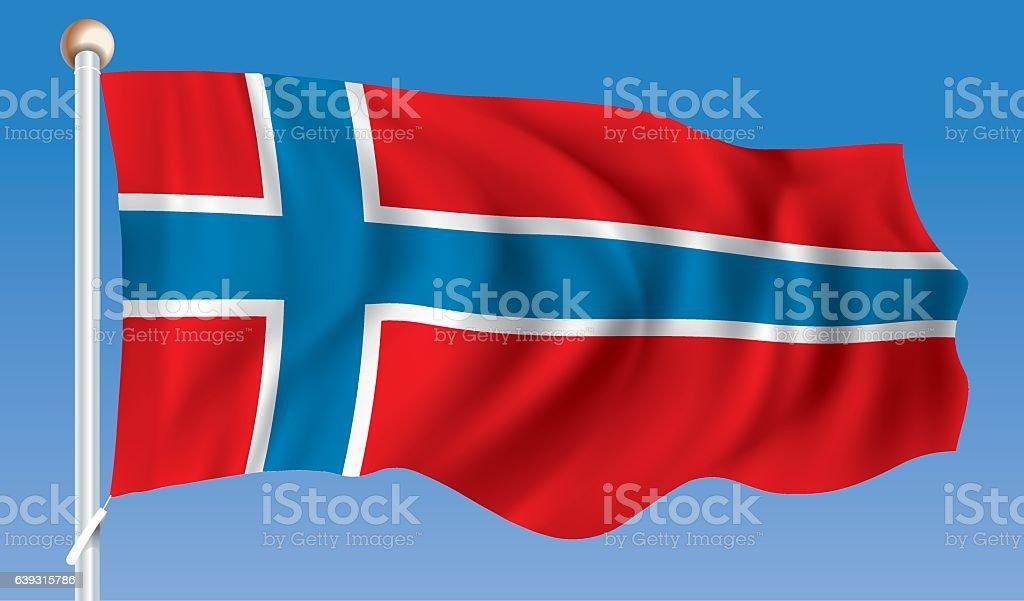 Flag of Bouvet Island vector art illustration