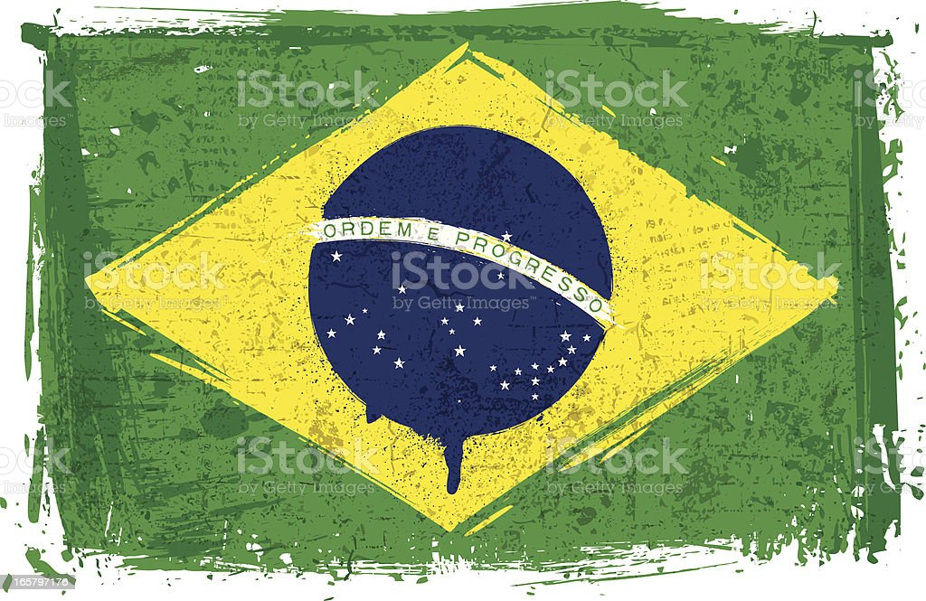 Flag of Brasil on Wall royalty-free flag of brasil on wall stock vector art & more images of blue