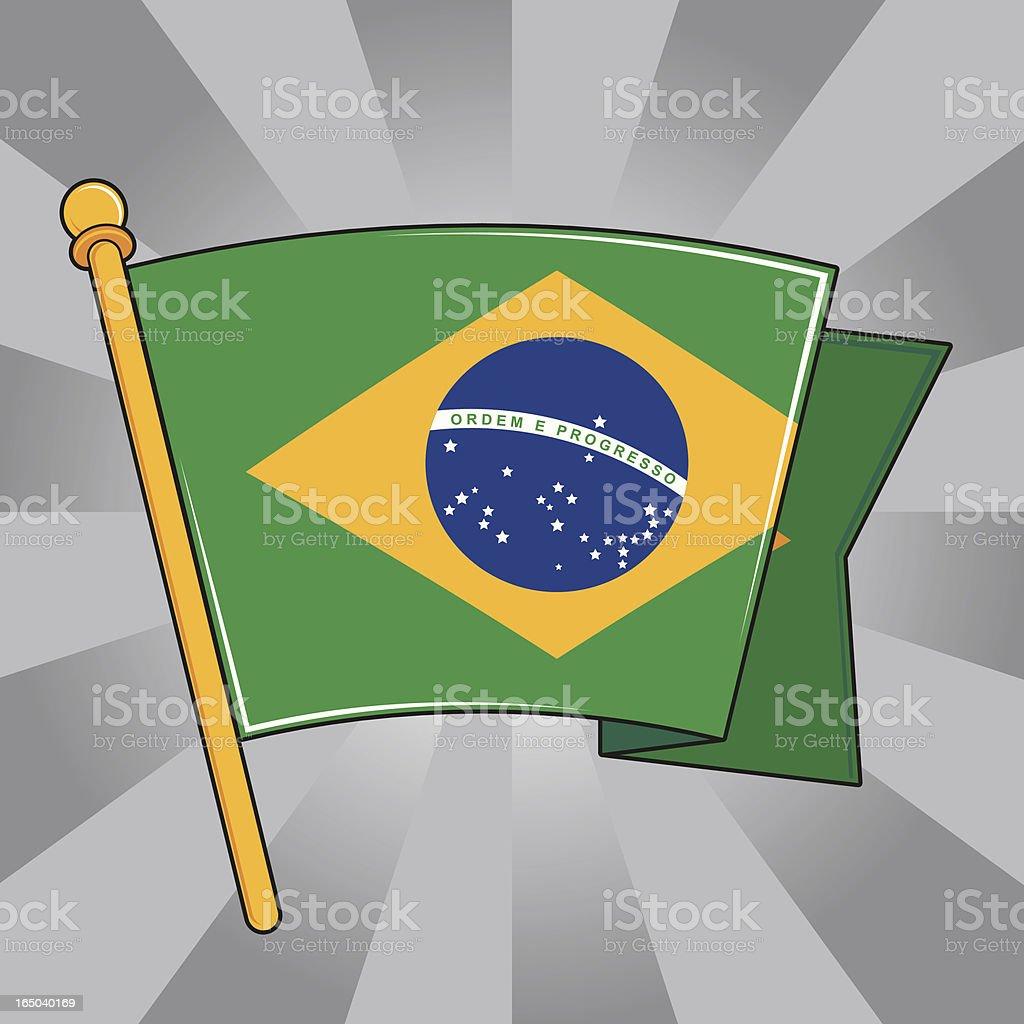 Flag of Brazil royalty-free stock vector art