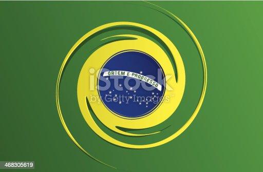 istock Flag of Brazil 468305619