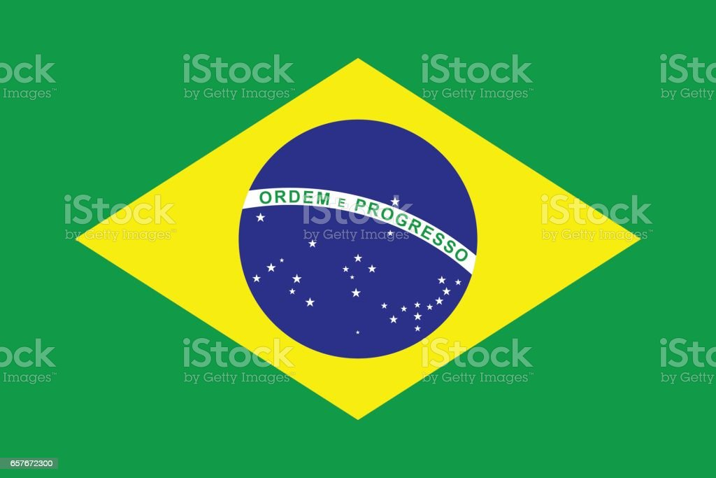 Flag of Brazil vector art illustration