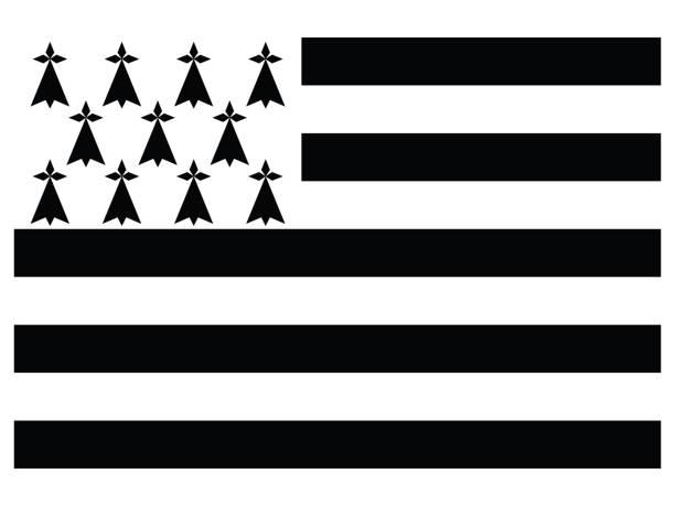illustrations, cliparts, dessins animés et icônes de drapeau de bretagne (bretagne) - bretagne