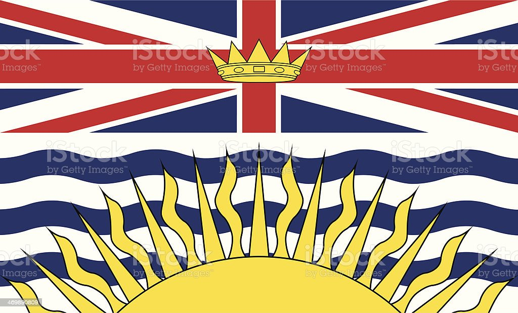 Flag of British Columbia royalty-free stock vector art