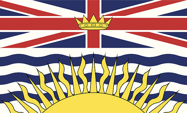 Flag of British Columbia Canada Flag, Flag of British Columbia. british columbia stock illustrations