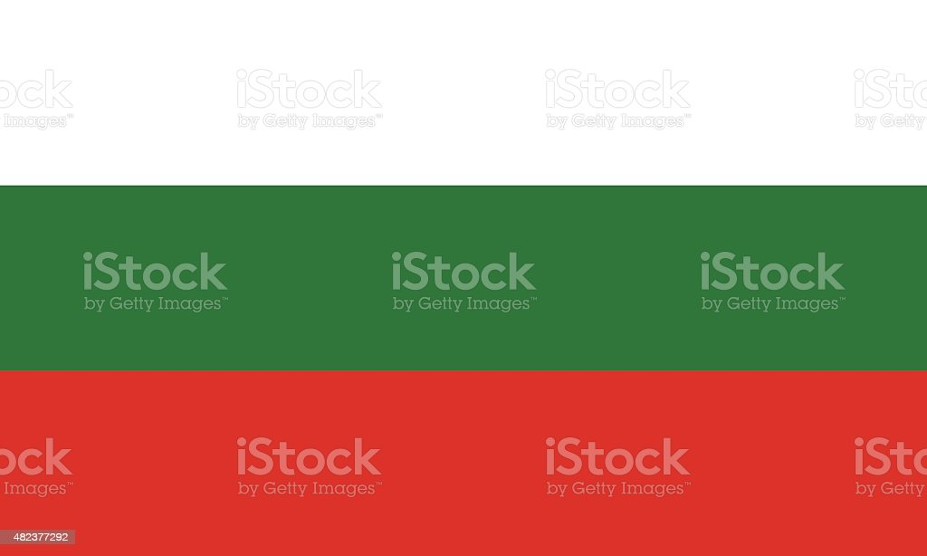 Flag of Bulgaria vector art illustration