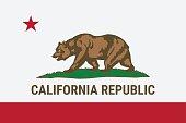 Flag of California American state. Vector illustration.