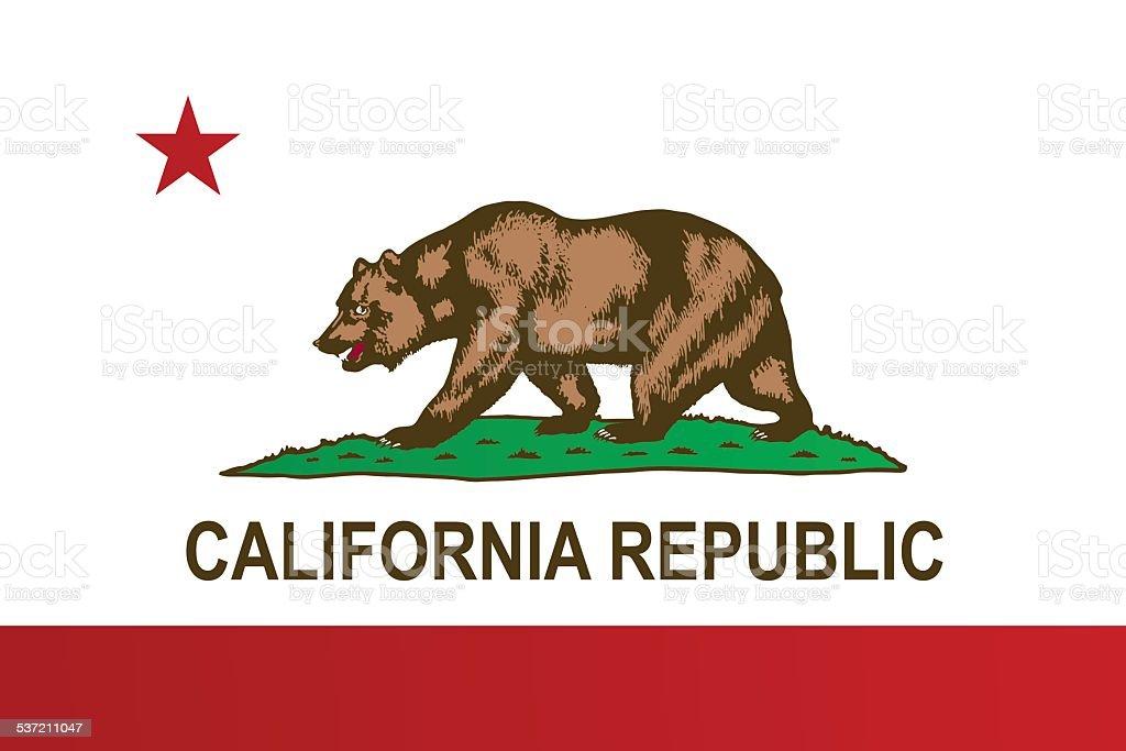 Bandeira da Califórnia - ilustração de arte em vetor