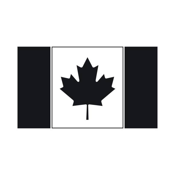 Flag of Canada icon in simple style vector art illustration
