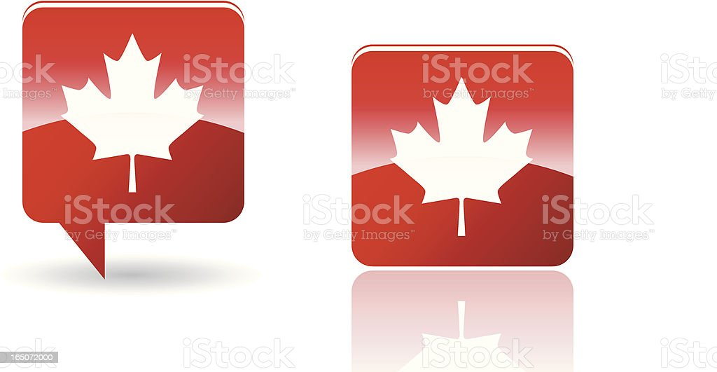 Flag of Canada in red royalty-free stock vector art