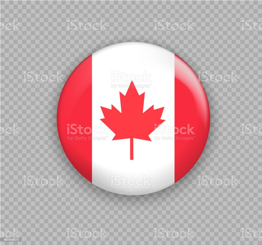 Flag Of Canada The Right Colors And Proportions Vector Illustration
