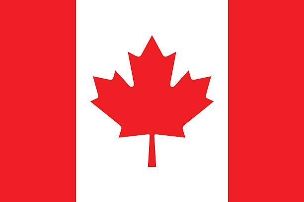 flagge von kanada - flagge kanada stock-grafiken, -clipart, -cartoons und -symbole