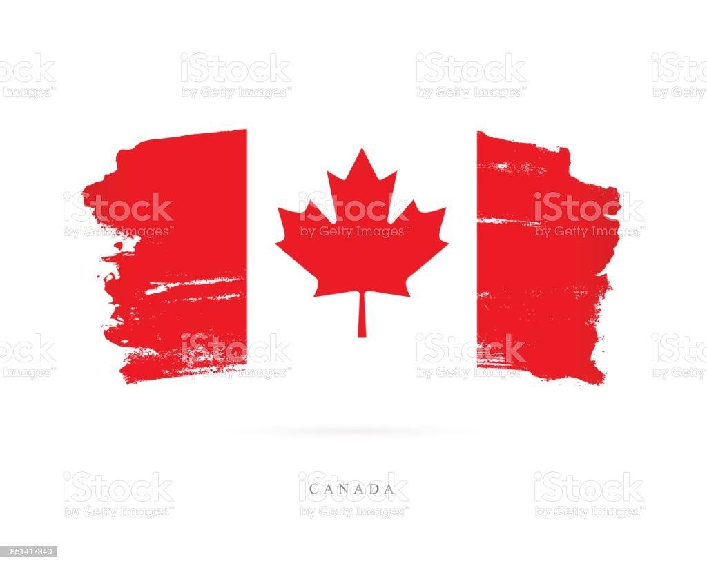 Flagge von Kanada. Vektor-illustration – Vektorgrafik