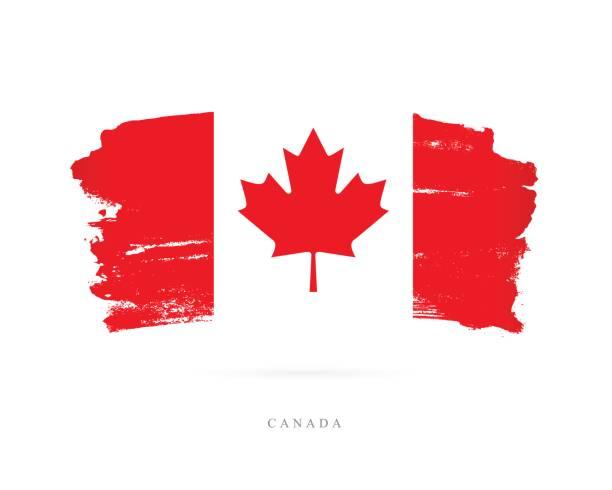 flagge von kanada. vektor-illustration - flagge kanada stock-grafiken, -clipart, -cartoons und -symbole