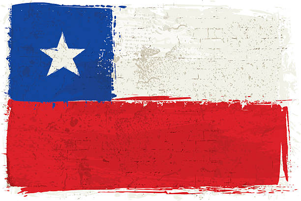flag of chile on wall - chile flag stock illustrations, clip art, cartoons, & icons