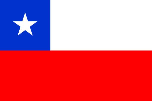 ilustraciones, imágenes clip art, dibujos animados e iconos de stock de bandera de chile - bandera de chile