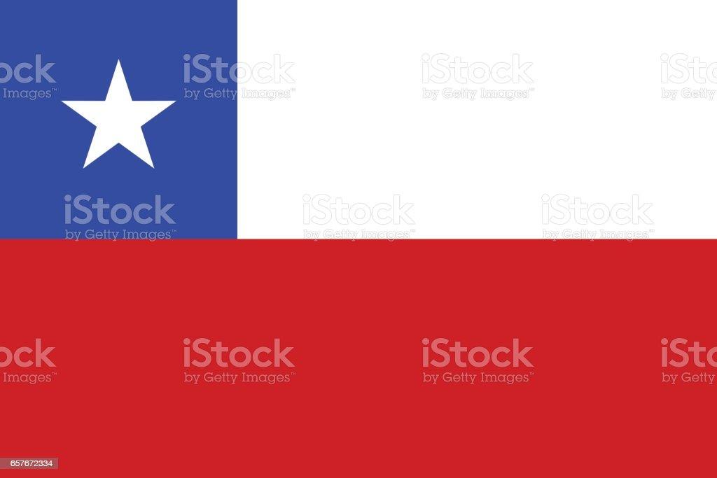 Flag of Chile vector art illustration
