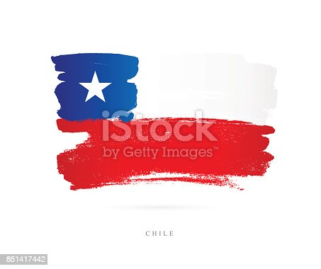 istock Flag of Chile. Vector illustration 851417442