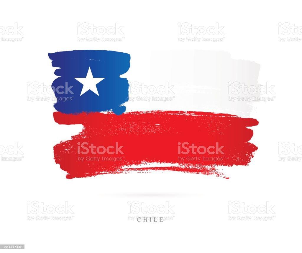 Bandera de Chile. Ilustración de vector - ilustración de arte vectorial