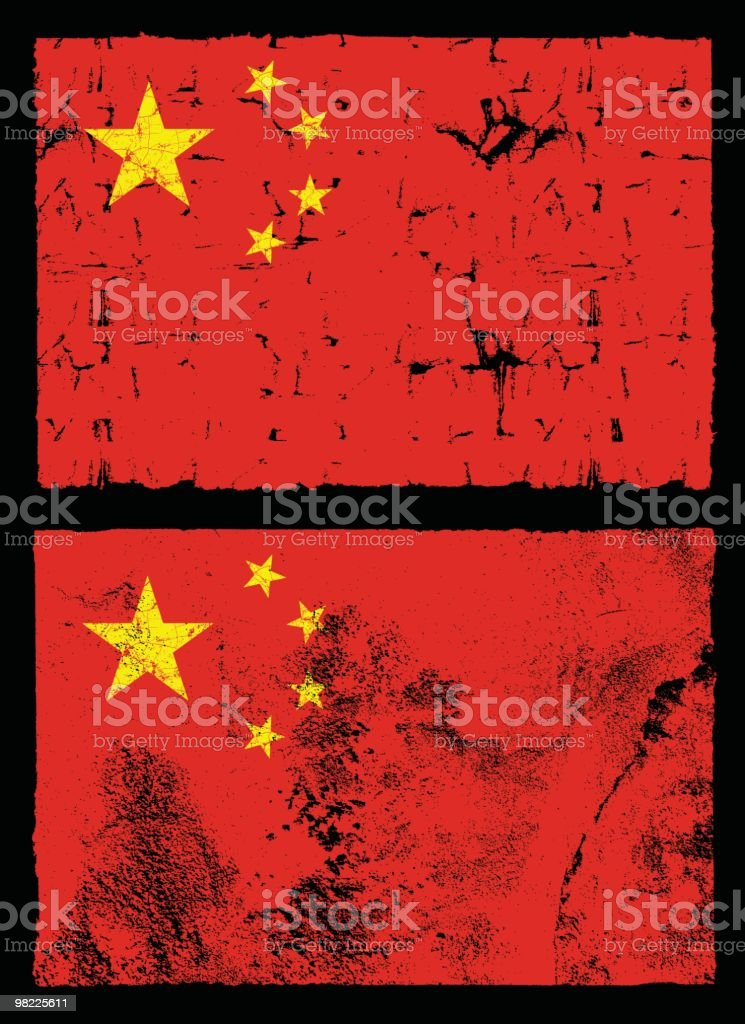 Flag of China, Grunge Style royalty-free flag of china grunge style stock vector art & more images of bad condition