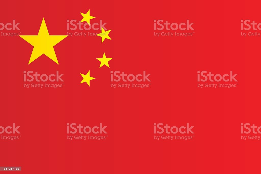 Flag of China vector art illustration