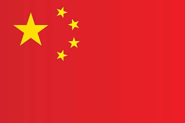 Flag of China Flag of China china stock illustrations